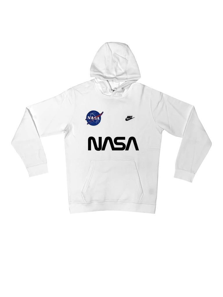 "Fall19 Nike ""NASA"" Custom Hoodie in White"