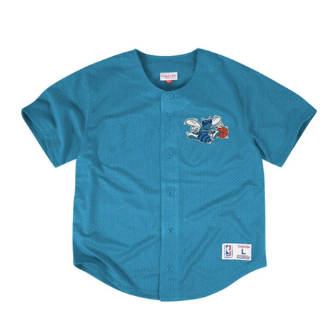 Mitchell & Ness NBA Charlotte Hornets Mesh Front Button Jersey