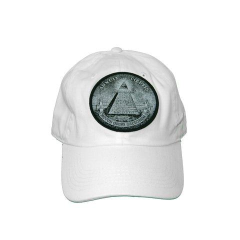 Vintage Culture All Seeing Eye Patched Dad Hat In White