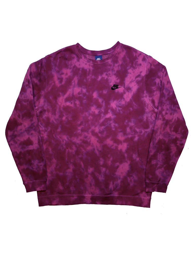 "Nike X Jeffersons Custom Tonal Tie Dye Washed Crewneck ""PURPLE HAZE"""