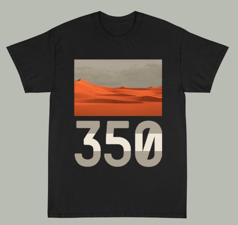 """DESERT"" 350 Tee Shirt in Black"