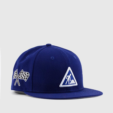 DAVE EAST x NEW ERA 5950 Fitted Cap in Royal Blue