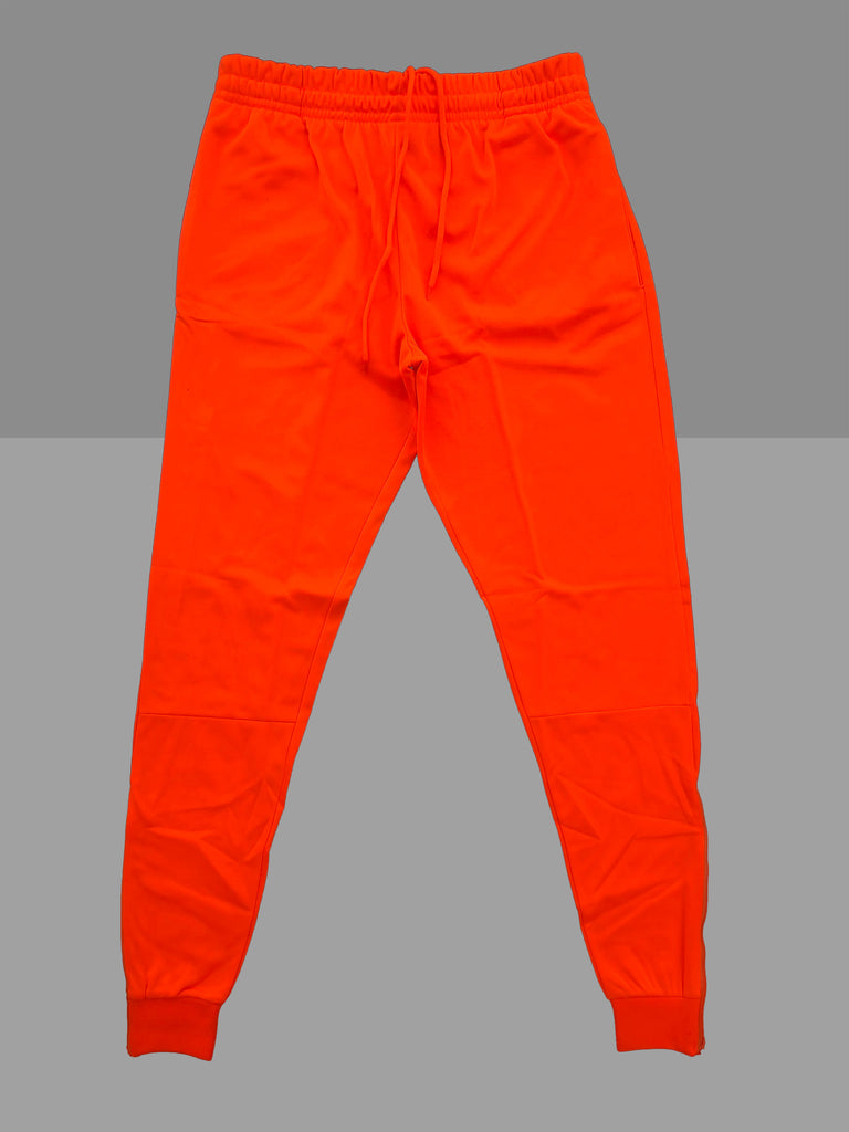 "Neon ""Orange"" Cotton Poly Tapered Joggers"