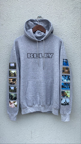 BELLY Hoodie in Heather Grey