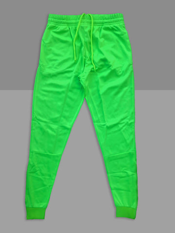 "Neon ""Volt"" Cotton Poly Tapered Joggers"