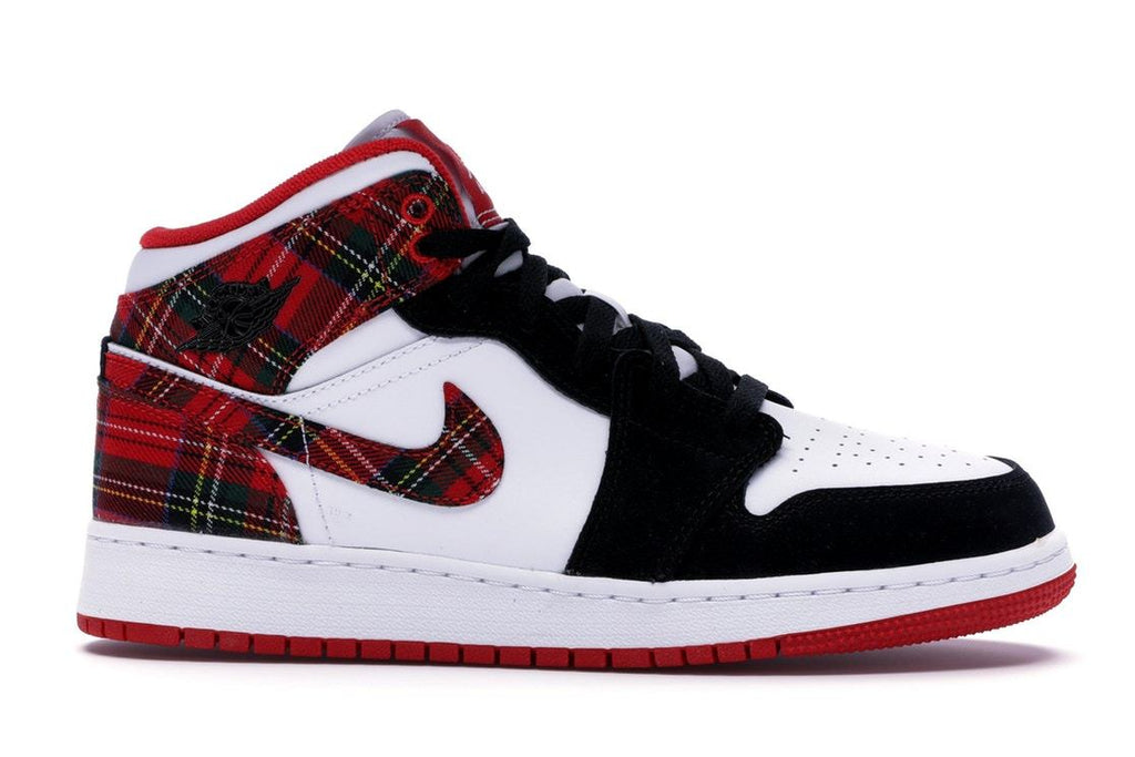 Jordan Mid 1 (Grade School) White Plaid