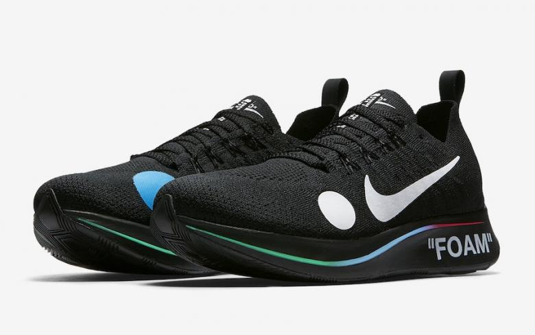 OFF WHITE Nike Zoom Fly Mercurial Flyknit Black