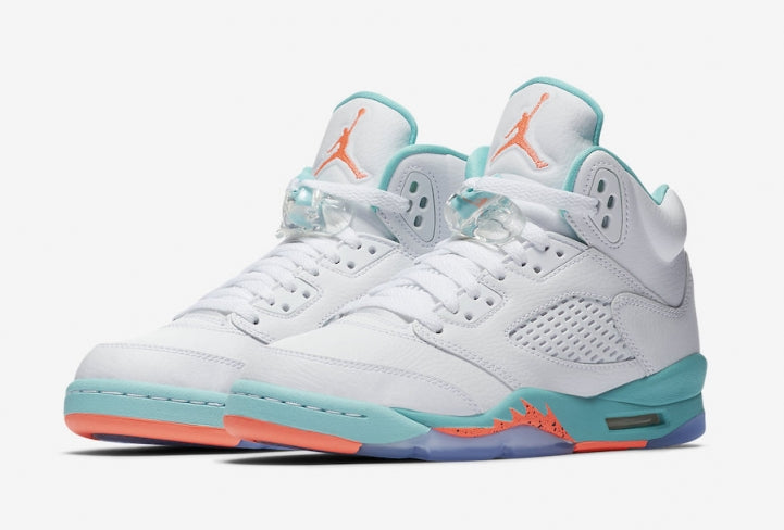 82a692c0e9b Air Jordan 5 GS Light Aqua