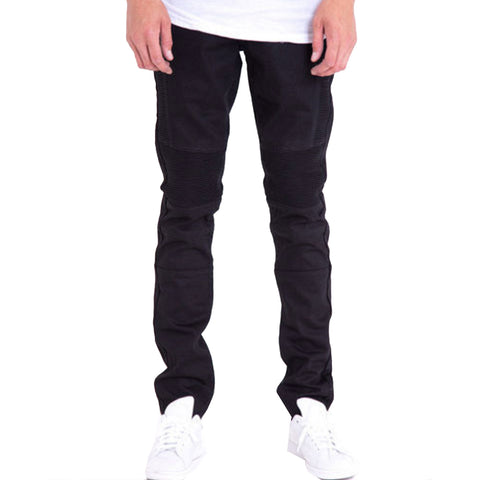 Crysp Jordan Biker Denim In Black