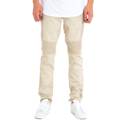 Jordan Biker Denim Jeans In Khaki