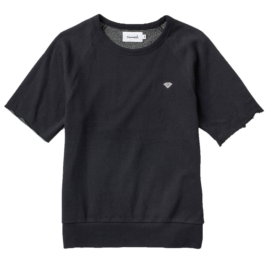 Diamond Pavilion Terry SS Crewneck In Black
