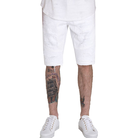 Embellish NYC Kings Shorts In White