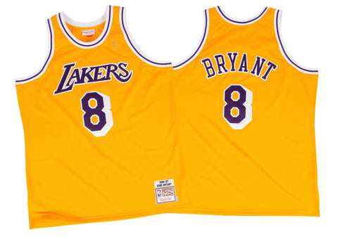 60f03667514 Mitchell   Ness Kobe Bryant 1996-97 Authentic Jersey Los Angeles Lakers In  Gold