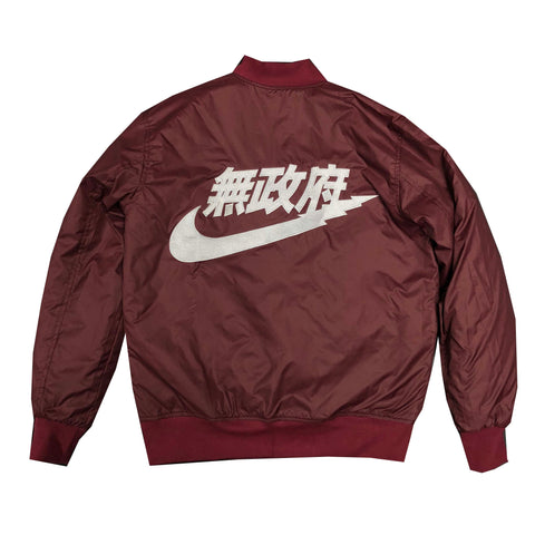 Anarchist Bomber Jacket in Maroon