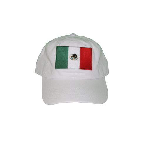 Vintage Culture  Mexico Patched Dad Hat In White