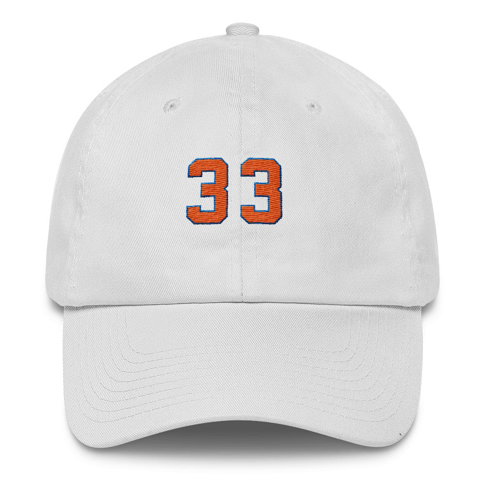 """Patrick"" 6 Panel Dad Cap in White"