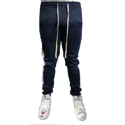Navy / White Stripe Trackpants