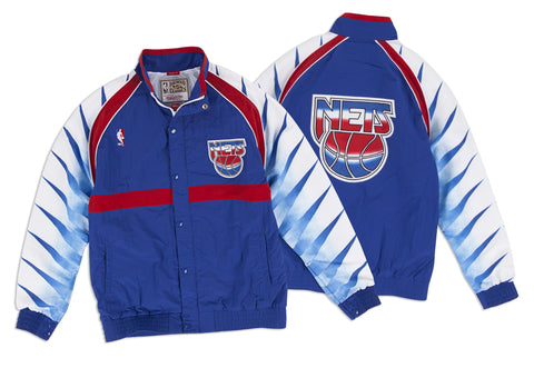 Mitchell & Ness 1993-94 Authentic Warm Up Jacket New Jersey Nets In Royal
