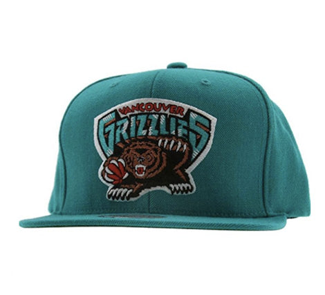 Mitchell & Ness Men's The Vancouver Grizzlies Wool Solid Snapback Cap One Size Teal 2017