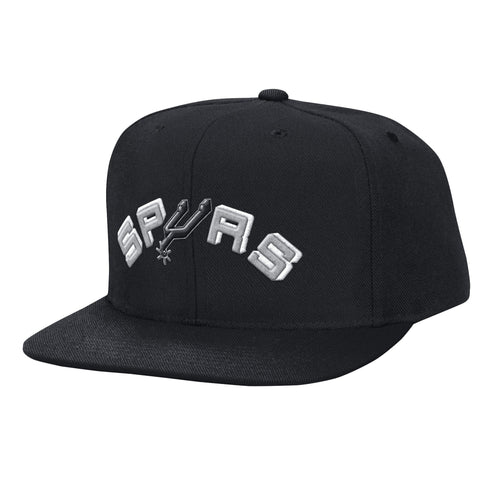 Mitchell & Ness Solid Snapback San Antonio Spurs In Black
