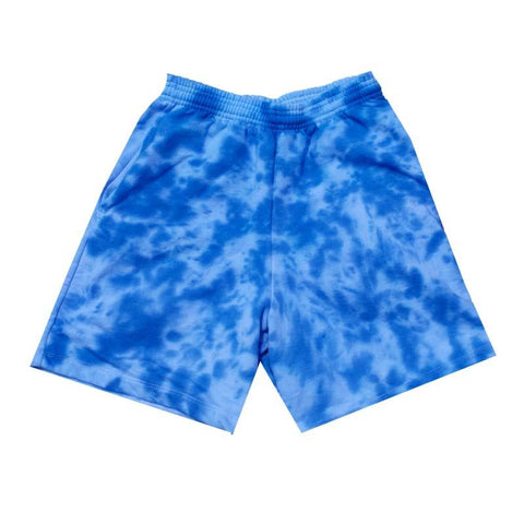 "Jeffersons Custom Tonal Tie Dyed Shorts w/ Pockets ""OCEAN BLUE"""