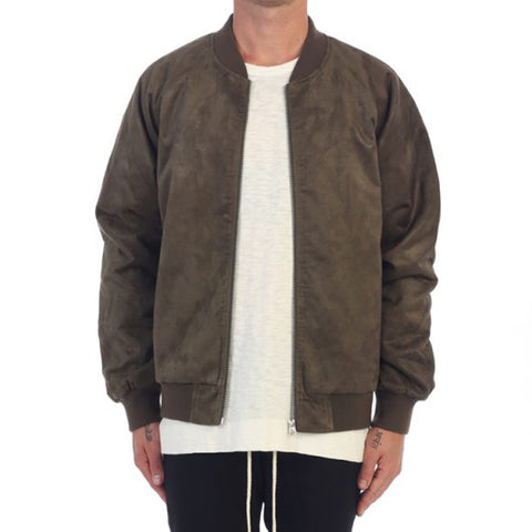EPTM Suede Bomber In Olive