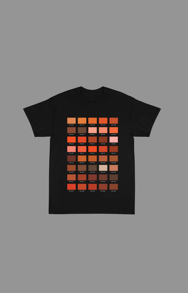 "Pantone ""Orange"" Tee Shirts (Available in Black & White)"