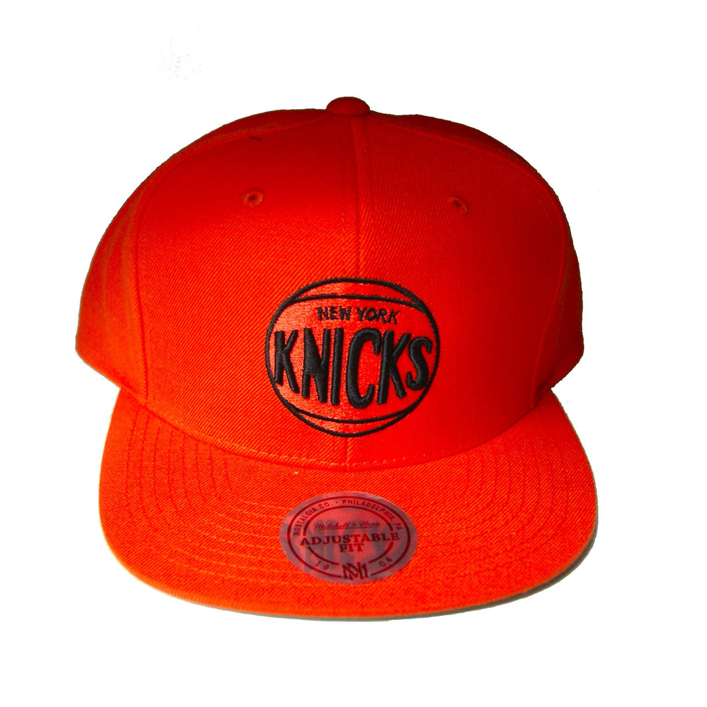 NBA Mitchell & Ness NY Knicks New Snapback Cap in Orange