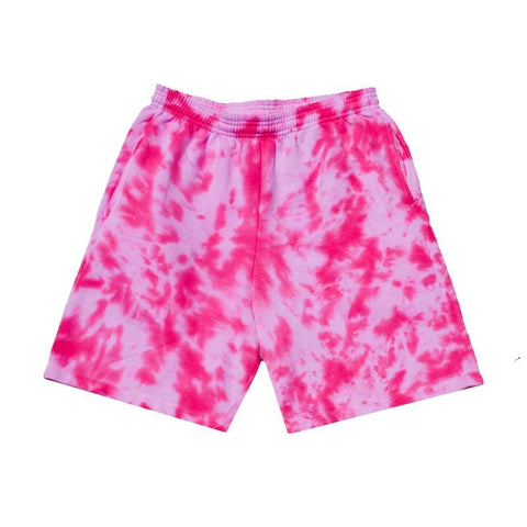 "Jeffersons Custom Tonal Tie Dyed Shorts w/ Pockets ""HOT PINK"""