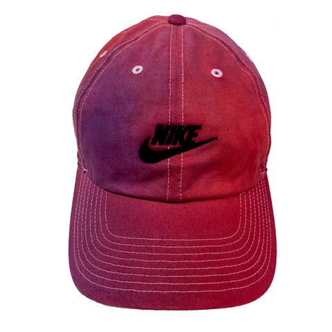 "Nike ""CARMINE x PURPLE"" Custom Washed Dad Cap"