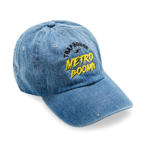 "Posh Dad Hat ""Trap House Metro Boomin"" Blue Denim"