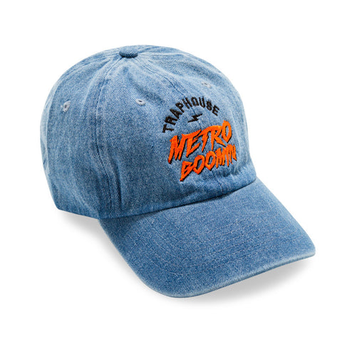 "Posh Dad Hat ""Trap House Metro Boomin"" Light Blue Denim"