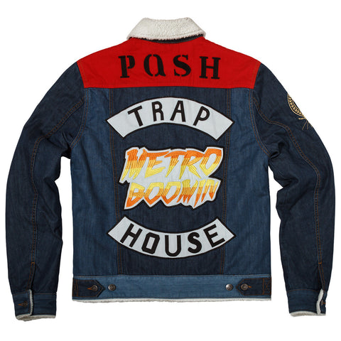 "Posh Denim Jacket ""Metro Boomin"" Sherpa Lined"