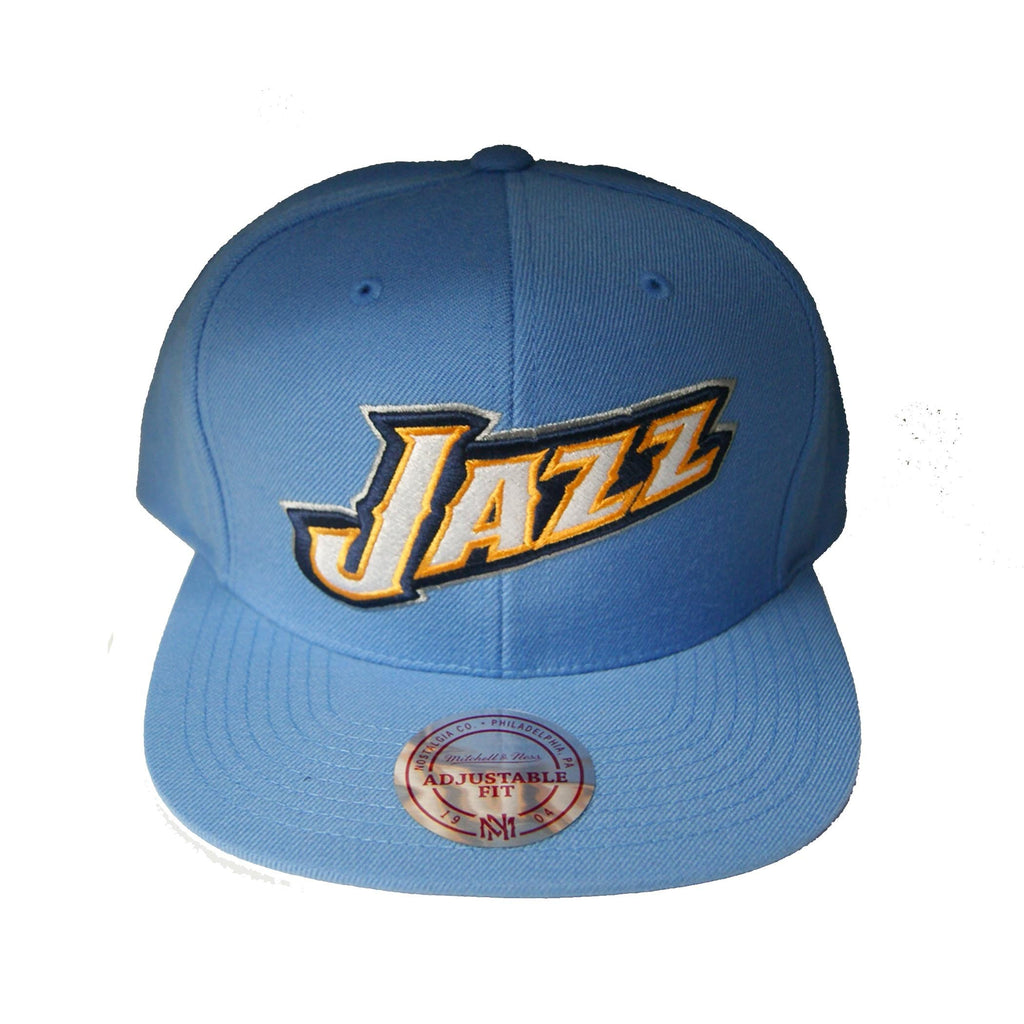 NBA Mitchell & Ness Utah Jazz New Snapback Cap in Powder Blue