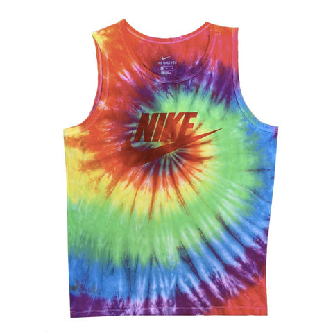 "Nike x Jeffersons Custom ""Rainbow"" Swirl Tie Dyed Tank Top"