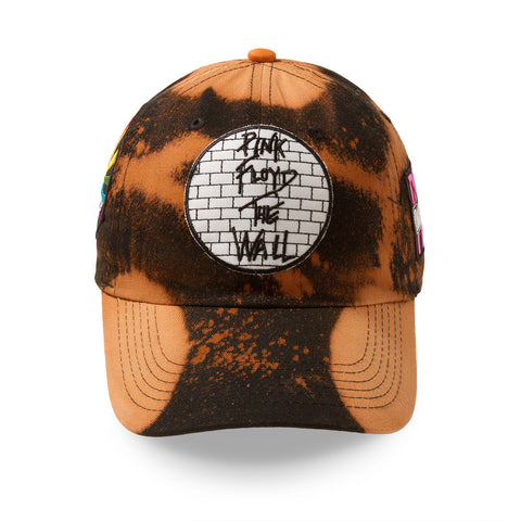"Posh Dad Hat Acid Wash Rock Hard Series ""Wall"" Brown"
