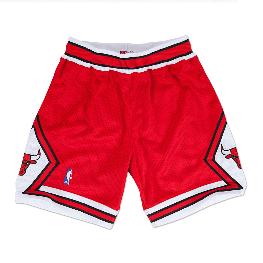 1997-98 Authentic Shorts Chicago Bulls in Scarlet Red