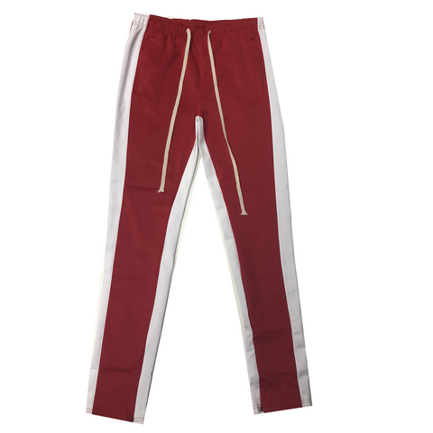 Red/White Track Pants