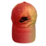 "Nike ""YELLOW x CARMINE"" Custom Washed Dad Cap"