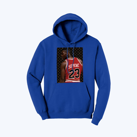 """Supreme Goat"" Pullover Fleece Hoodie in True Royal"