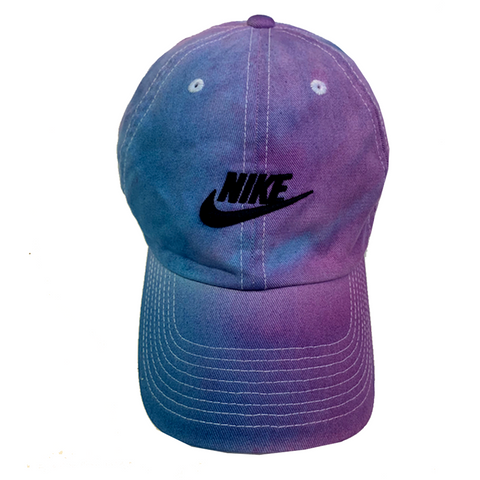 "Nike ""PURPLE x BLUE"" Custom Washed Dad Cap"