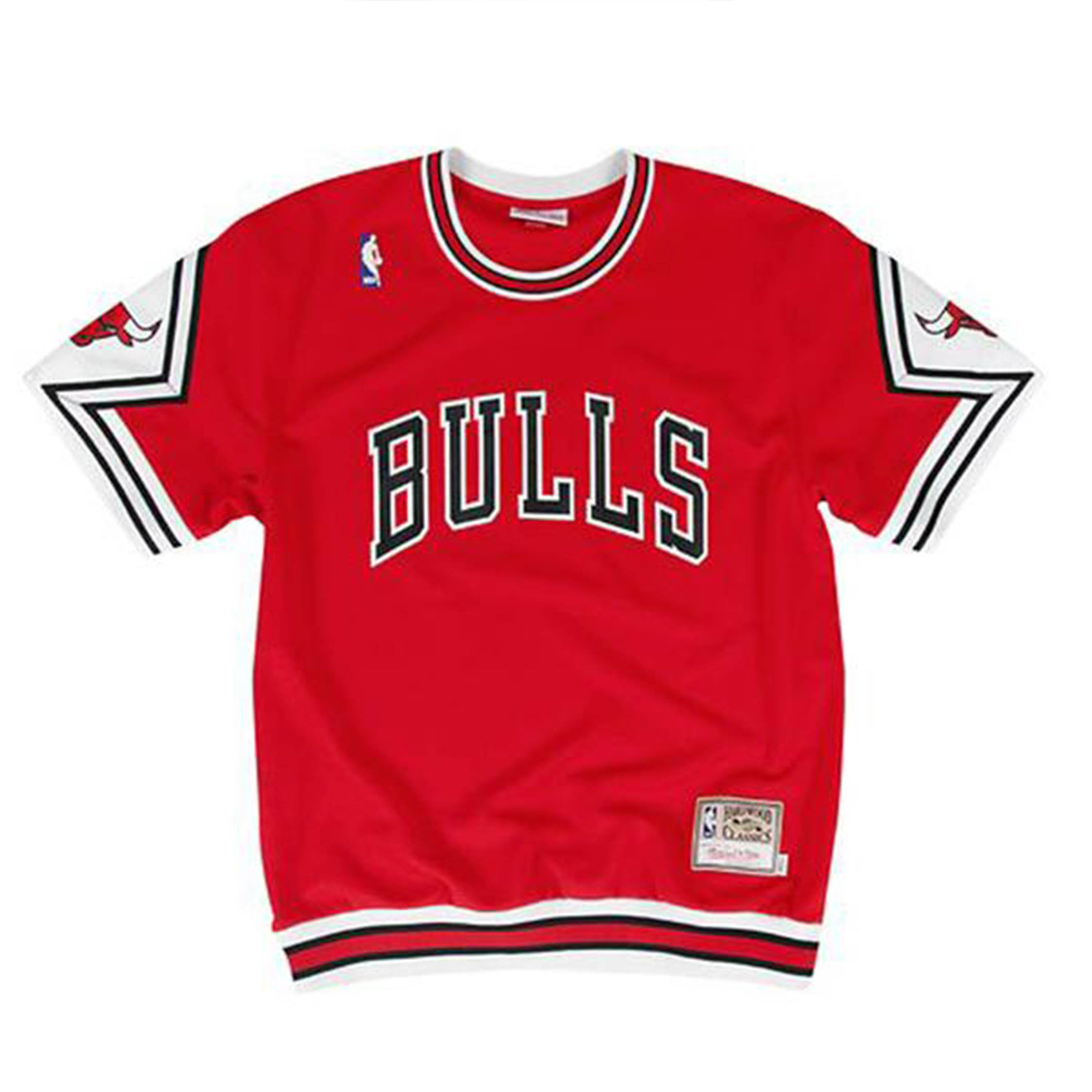 big sale 7b5ce bf419 Mitchell & Ness Chicago Bulls Authentic Shooting Shirt in Red