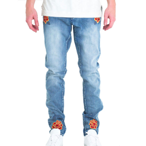 Embellish NYC Russian Denim Jeans In Light Blue
