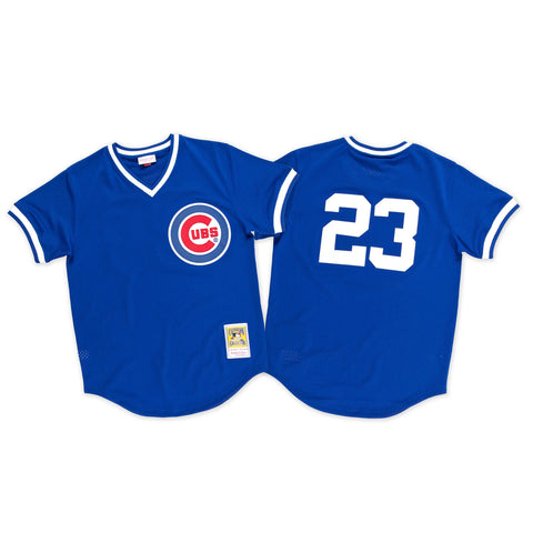 Ryne Sandberg 1984 Authentic Mesh BP Jersey Chicago Cubs