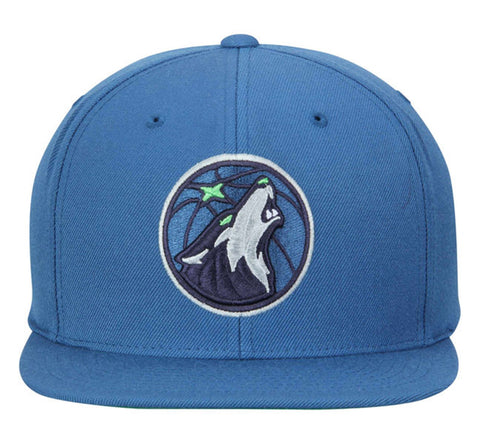 NBA Mitchell & Ness Current Minnesota Timberwolves Wool Snapback Blue