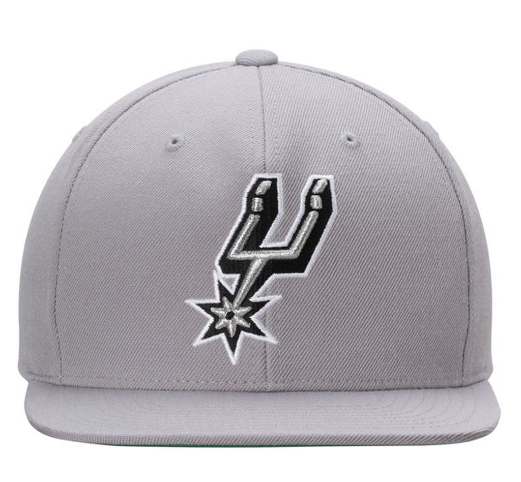 NBA Mitchell & Ness San Antonio Spurs New Snapback Cap in Grey