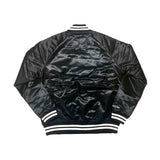 Limited Mitchell & Ness Chicago Bulls Holiday 2018 Satin Jacket in Black/White