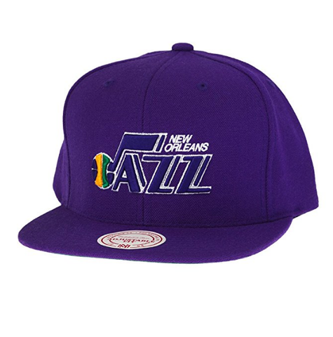 NBA Mitchell & Ness New Orleans Jazz HWC Snapback Hat - Purple