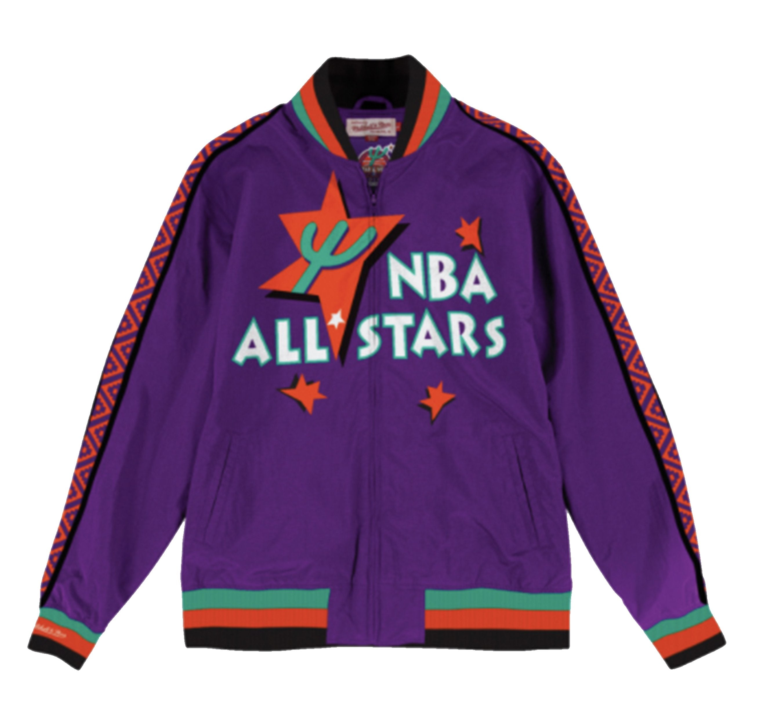 new concept 1a9e8 7847d Mitchell & Ness Team History Warm Up Jacket 1995 All Star Jacket Purple
