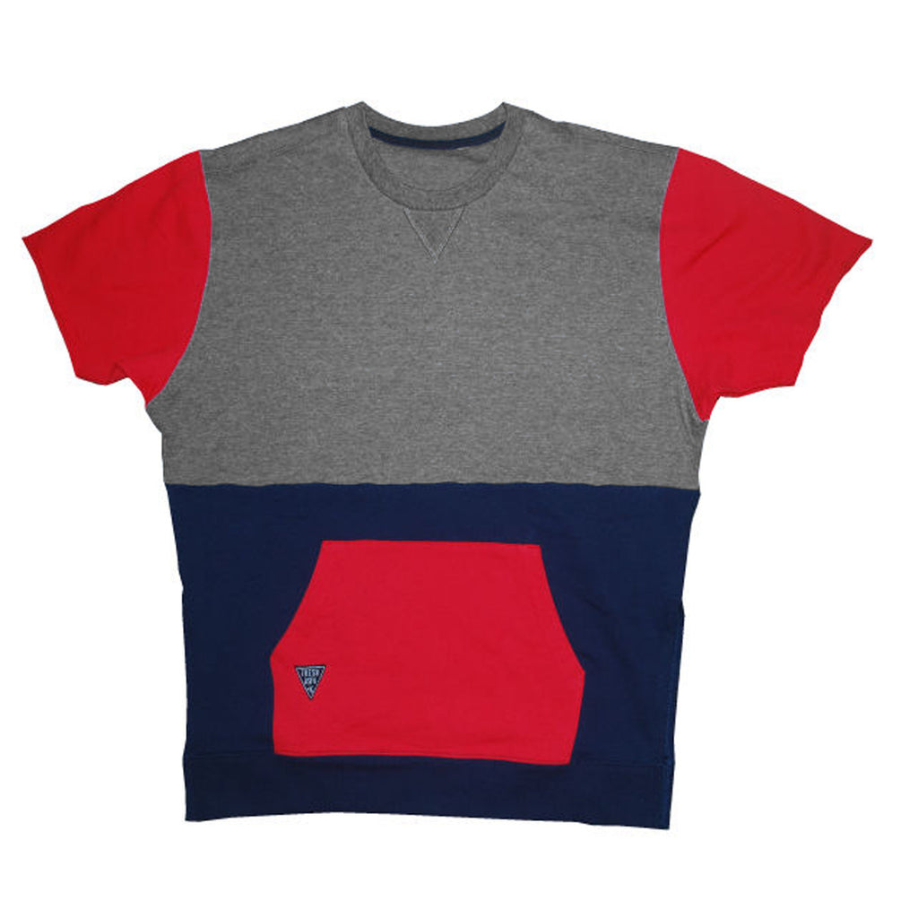 Color Block Crewneck Tee Shirt